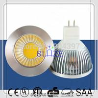 10X Hot Sale 5W 6W COB LED Bulbs Super Bright 520LM MR16 LED Spotlight Lamp GU5.3 DC 12V Free Shipping