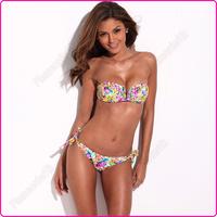New Full-Lined Flirty Jungle Pattern Bikini Set Swimwear Swimsuit S/M/L for Women Free Shipping