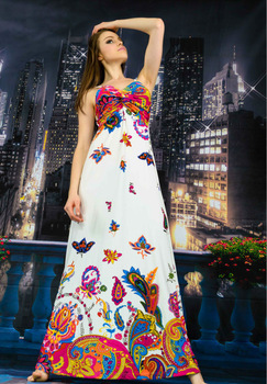 2015 Summer Long Dresses Beach Sun Dress Women New Sexy  Maxi Dress Lady Fashion Tops Bohemian size M/L/XL/XXL/XXXL 7139