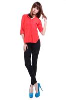 Free shipping 2014 women's new high waist Leggings high quality lace cotton leggings fashion pants  P027