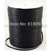 Satin Ribbon,  Black,  3mm wide,  880yards/roll