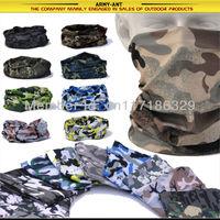 Free Shipping Multi Scarf Neck Bandana Mask Cap Hat Heardwear Seamless Tubular Microfiber Cycling Motor Bike Camouflage Camo