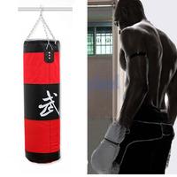 New 100cm Training Fitness MMA Boxing Bag Hook Hanging Kick MMA Fight Bag Sand Punch Punching Bag  Sandbag (Empty) Free Shipping