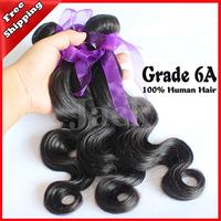 DHL Free Shipping Malaysian Virgin Hair Body Wave Human Hair Extension 5A 1Pcs/Lots 12-30inch 100g Natural  Color