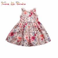 2015 New Brand Baby Girls Dresses Character Sleeveless Children Princess Dress with Sashes Cotton Girl Dress Casual Kids Dresses