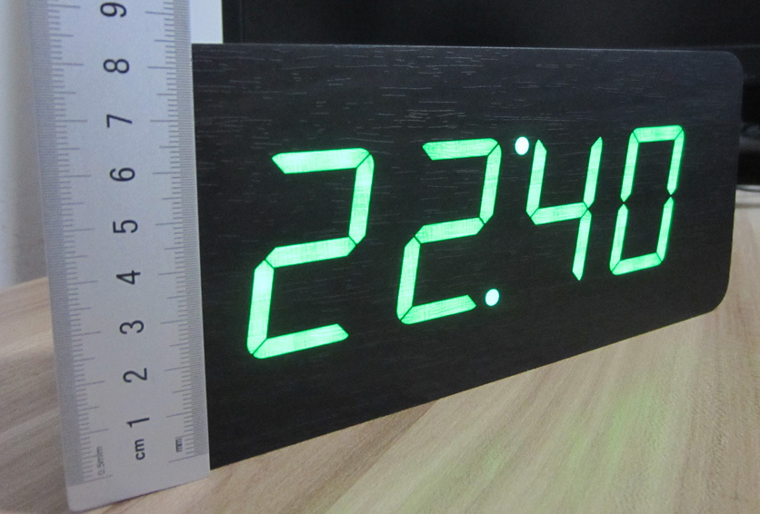 buy 2014 new modern calendar alarm clocks thermometer wooden clocks led clock. Black Bedroom Furniture Sets. Home Design Ideas
