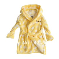 Free shpping Children's robe pajamas TOP selling coral fleece bath robe bathrobe kids sleepwear pajamas robes bathrobe 3 colors