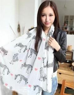 2013 Fashion style trendy women ladies noble women's scarf shawl neckerchief exquisite designs Lovely zebra
