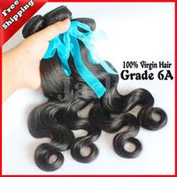 Bowin Jack Hair Wholesales Indian Virgin HairBody Wave 3Pcs/lots Grade 6A  Size12-30 Inch Natural  Color Human Hair