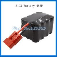 Free Shipping 12V/12.8V 6.9Ah A123 Lifepo4 Rechargeable Battery Pack Motorcycle Start with Free Opposite Anderson Type Connector