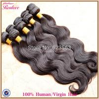 """brazilian body wave human hair extension 10pc 8""""-30"""" Brazilian Virgin Hair Wholesale brazilian hair weave bundles realove hair"""