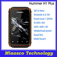 New Hummer H1 Plus GSM 3.5'' Dual Core Dual Sim Multi-Touch Android 4.2 GPS WiFi Waterproof Mobile Phone.