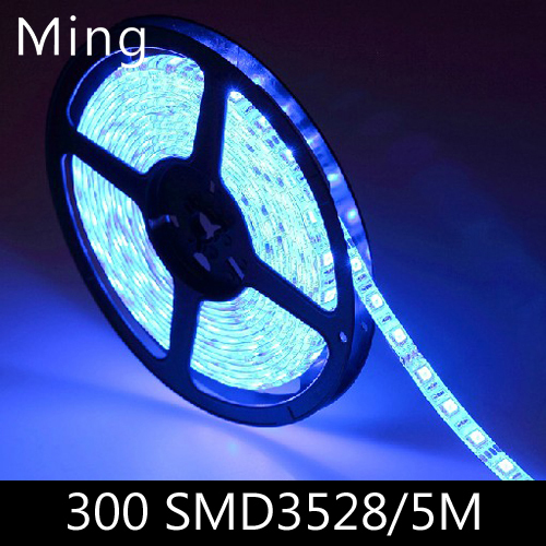 LED strip light ribbon single color 5 meters 300 pcs SMD 3528 non-waterproof DC 12V White/Warm White/Red/Green/Blue/Yellow(China (Mainland))