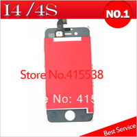 30pcs/lot Hot Selling Touch Screen Wiht LCD Digitizer Assembly for iPhone 4 4S White Color Come On