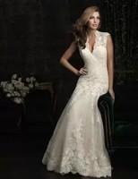 Princess Bride Korean Korean American Wedding Lace fishtail tail halter wedding dress 2015 NEW Lace Bridal Gowns for Women