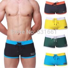 New 2014 swim swimwear men swimming trunks sexy boxer swimsuit beach shorts for perfume man bathing wear briefs sunga masculinas()