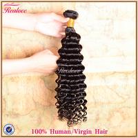 "Malaysian Virgin Hair Extension Deep Curly 1pc 8""-30"" Realove Hair Remy Human Hair Weaves malaysian deep wave Hair Wholesale"