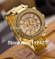 New Geneva watches Women Brand watch Men with diamond Watch dial 2014 new items Watches for Women-EMSX66888
