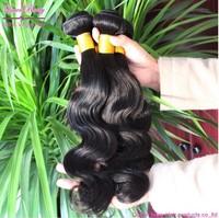 Q berry hair products 3pcs and 4bundles good cheap bella dream  virgin brazilian human hair exstensions Free shipping