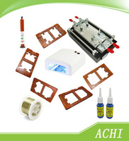 Hot sale!!!110/220V Mobilephone Touch Glass Screen Repair Kit LCD Separator machine+Cutting Wire+UV lamp +9Mould Etc. More