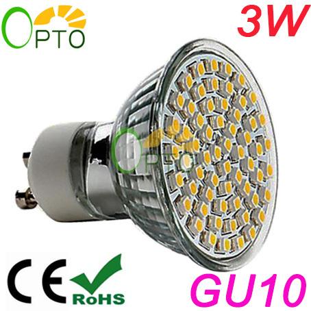 2014 neuankömmling led-strahler 6pcs/lot 3w gu10 220v 230v 240v led spot beleuchtung glühlampen licht smd3528 60 stück warmweiß/weiß