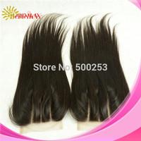 Stock 4*4 Top Closure 3 part Brazilian Virgin Human Hair Straight Lace Closure 120% Density Three part Lace Closure