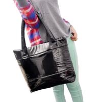 Free shipping!Hot selling Winter Cotton women Handbags 6 color fashion women bag,Leisure feather shoulder handbags for female!