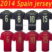spain 2014 world cup . spain away black jerseys .spain world cup 2014 .spain jersey mane and women uniform free shipping