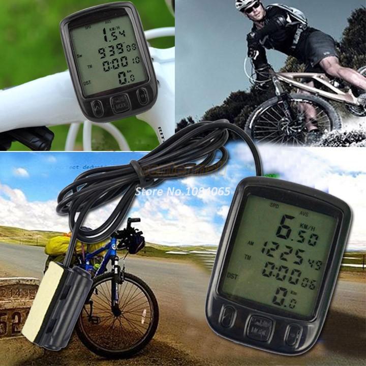 TOP SALE 24 Functions LCD Digital Speedometer, Cycling Bike Bicycle Computer Odometer Velometer B16 4820(China (Mainland))