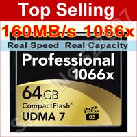 Brand1066x Professional Memory card 16GB 32gb 64GB 128GB High Speed CF Card Compact Flash For DSLR Camera Full HD 3D Video