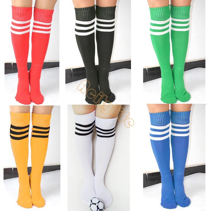 New Sport Knee Socks Thigh High Cotton Sock Knee Leg Sock Soccer Football Sock 6 Colors Drop shipping #2 18938(China (Mainland))