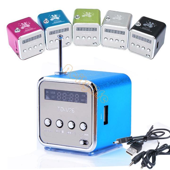 Fashion Home Stereo Speaker Mini USB,TF Card MP3 Music Portable Speakers FM Radio Digital Speaker #011 SV001051(China (Mainland))