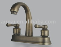 Free Shipping - Dual Hole Classic Mixer Faucet Antique Brass Lavatory Basin Faucet  (F-5017)