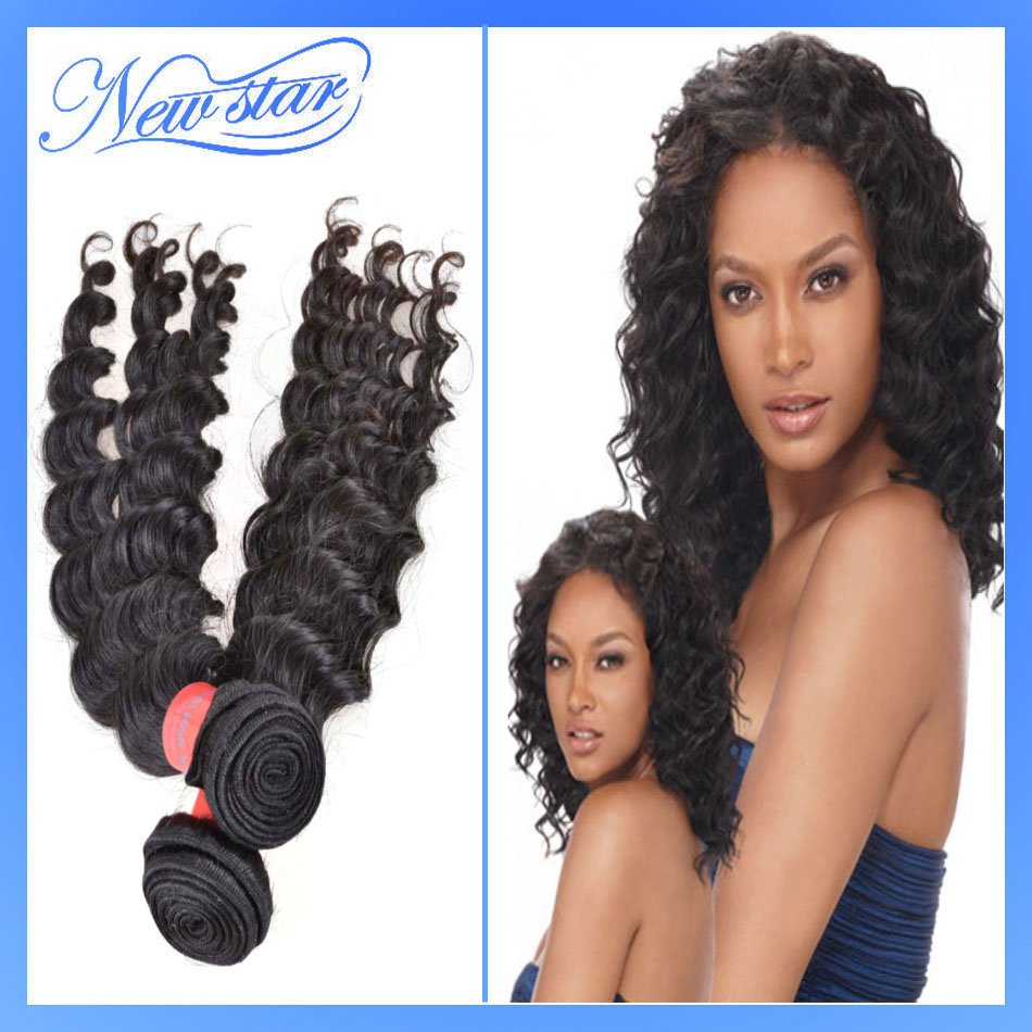 african american hairstyles 3pcs lot discount cheap New star Virgin brazilian human hair extension weave deep curl free shipping(China (Mainland))