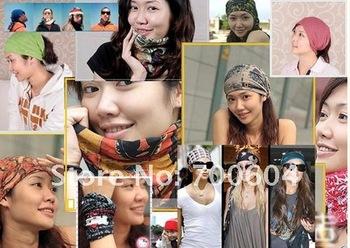 Express free shipping Size 24x49cm Multifunctional Headband Printed Seamless Bandana Magic Scarfs 100 pcs MOQ Mixed Wholesale