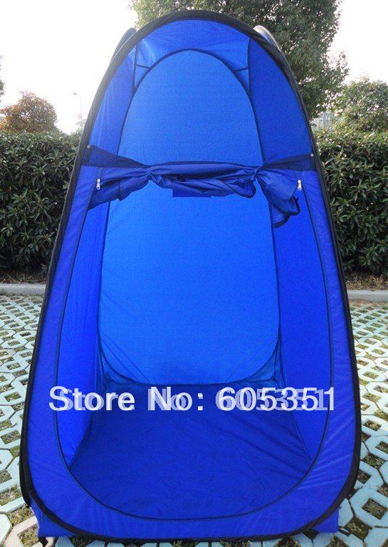 Free shipping Wholesale Blue Color Pop up Changing Room Tent /Wholesale Shower tent/Camping Tent/Bathroom Tent-10PCS/LOT(China (Mainland))