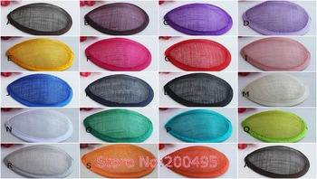 Free Shipping Sinamay Teardrop Base Fascinator Base 20pcs/lot #14Color