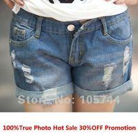 Promotion Lady Denim Shorts,Women's Jeans Shorts,Hot Sale Ladies' Short Pants Plus Size Free Shipping denim jeans