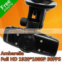Car DVR Recorder Ambarella Full HD 1920 * 1080P 30FPS + G-Senor , Original A242 built-in 4G Free Shipping!