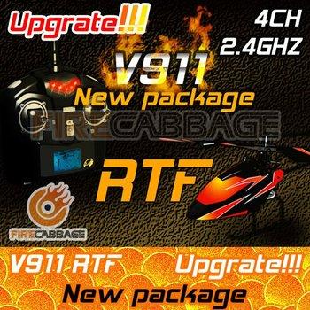 il trasporto libero nuovo v911 più nuovo aggiornamento del metallo alluminio v911 2.4 g 4ch rc elicottero nuova versione plug rc all'aperto elicottero rtf