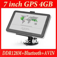 7 Inch Car GPS Navigator,Bluetooth, AV IN, Fm transimitter,MTK,CE6.0,DDR128M,800*480,4GB,load 3D map,Car GPS Navigator