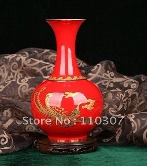 free shipping Business Gift Crafts Porcelain, pottery, ceramic, vase, zirconia block, decoration(China (Mainland))