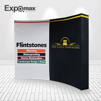 8FT curved 3*3 pop up display stand expo equipment fabric wall trade show advertising display