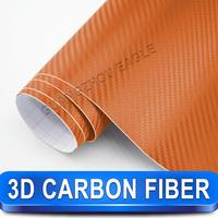 Printable Anti-uv Orange 3d Carbon 3d Foil1.52x 30m