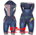 Newest Design!! Baby Boys/Girls Overall Jeans Long Trousers Fashion Kids pants High quality baby wear