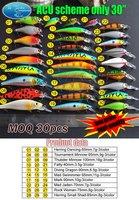 "Free Shipping fishing lure ""ACU SCHEME ONLY 30/PCS "" china Hooks hard bait"