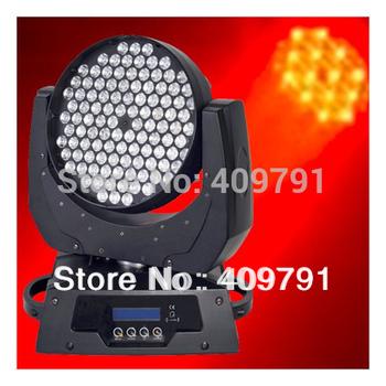 Free Shipping Guaranteed 100% Wholesale LED 108x3W RGBW/A 12CH DMX512 LED Moving Head Light,Disco KTV Party Club DJ Stage Light