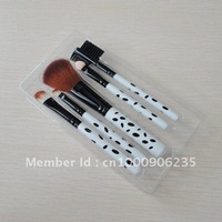 China Post Air Mail Free Shipping 5pcs cosmetic brush set,makeup brush set with wooden handle,high quality package