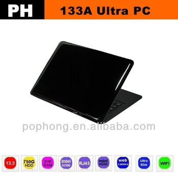 13.3 inch air windows 7 laptop computer 2G RAM 750G HDD
