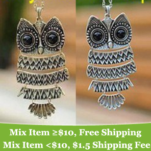 summer dress 2014 Fashion vintage Owl Necklace Jewelry for women !statement necklace-cRYSTAL M13(China (Mainland))
